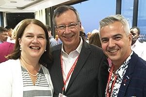 The Honourable Jane Philpott, Minister of Health, with Christopher Bunting, CANFAR President and CEO, and Kyle Winters, CANFAR Vice President and COO, at the International AIDS Conference in Durban, South Africa.