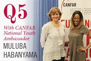 Pictured, Muluba Habanyama and Dr. Brouillette