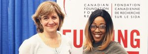 Dr. Marie-Josée Brouillette, CANFAR researcher, and Muluba Habanyama, CANFAR National Youth Ambassador at the CAHR conference.