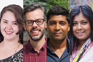 New CANFAR hires Chantal Penrose, Kevin Hollett, Logan Thayalan, Nikita Chowdhury.
