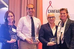 CANFAR recognized individuals and organizations for their outstanding work supporting HIV and AIDS research at a reception hosted by the Four Seasons Hotel, December 2016.