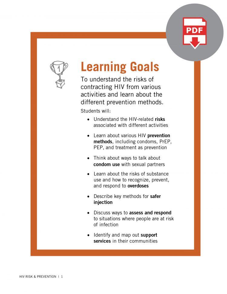 HIV Educator Guide: HIV Risk & Prevention